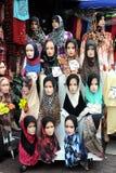 Ledenpop met Hijab Royalty-vrije Stock Fotografie