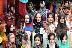 Ledenpop met Hijab Stock Afbeelding