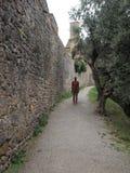 Ledenpop op weg in San Gimignano Stock Afbeelding