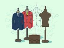 Ledenpop voor kleren Stock Illustratie