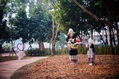 Ledenpopstammen in het park Royalty-vrije Stock Afbeeldingen