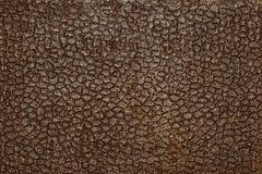 Leder der dunklen Farbe mit einem silbrigen Stempeln Lizenzfreies Stockbild