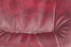 Leder der Rotweinfarbe als Hintergrund Stockfoto