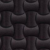 Leder gerundete Blöcke gestapelt für nahtlosen Hintergrund stock abbildung