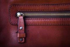 Leder mit Reißverschlusselement Lizenzfreies Stockfoto