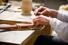 Leder-opmaker stock fotografie