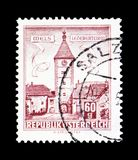 Lederer - πύργος, Wels (Άνω Αυστρία), κτήρια serie, circa 196 Στοκ Φωτογραφίες