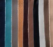 Lederflicken der unterschiedlichen Farbe Lizenzfreie Stockfotografie