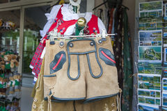 Lederhosen and Dirndl Stock Image
