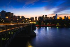 Lederman Park and Boston city skyline stock photos