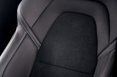 Lederne Autositze lizenzfreies stockbild
