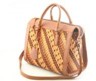 Lederne Batik-Frauen-Tasche Lizenzfreies Stockbild