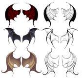 Lederne Flügel Stockbilder