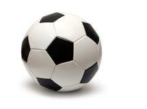 Lederne Fußballfußballkugel Lizenzfreie Stockfotos