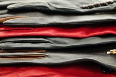 Lederne Handschuhe Stockfoto