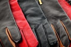 Lederne Handschuhe Stockbild