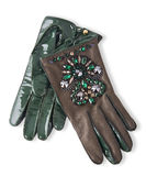 Lederne Handschuhe stockbilder