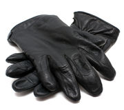 Lederne Handschuhe des Winters Stockfotografie