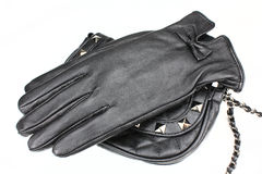 Lederne Handschuhe, womenï ¿ ½ s Stockfotos