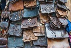 Lederne Handtaschen Lizenzfreie Stockfotos
