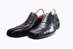 Lederne Männer ` s Schuhe lizenzfreie stockfotografie