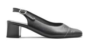 Lederne Sandale der Frauen Stockfoto