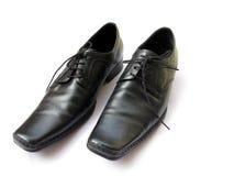 Lederne Schuhe lizenzfreie stockfotos
