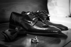 Lederne Schuhe Stockfoto