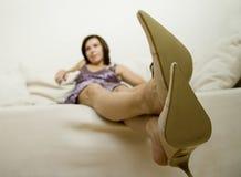 Lederne Schuhe   Lizenzfreies Stockbild