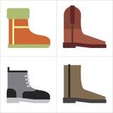 Lederne Schuhe stock abbildung