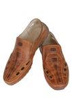 Lederne Schuhe der Männer. Stockbild