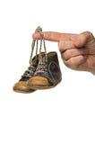 Lederne Schuhe des blauen Schätzchens Lizenzfreie Stockbilder