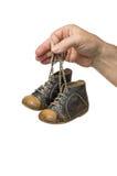 Lederne Schuhe des blauen Schätzchens Lizenzfreies Stockfoto