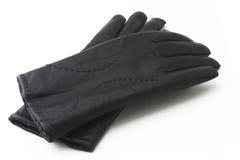 Lederne schwarze Handschuhe Lizenzfreie Stockbilder