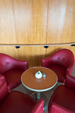 Lederne Stühle stockfotos
