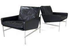 Lederne Stühle Stockfotografie
