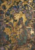 Lederne Tapete der Weinlese Stockbild