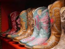 Lederne Texas-Stiefel Lizenzfreies Stockbild