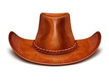 Lederner Hut Stetson des Cowboys Stockfotografie