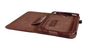 Lederner Kasten für Tablette der Computer Lizenzfreies Stockbild
