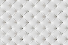 Lederner Sofa Texture Seamless Background, weiße Leder-Muster Stockbilder