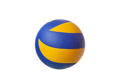Lederner Sportball lokalisiert auf einem weißen Hintergrund Lizenzfreie Stockfotos