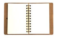 Ledernes Anmerkungsbuch Lizenzfreie Stockfotos