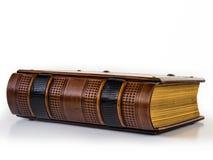Ledernes Buch der Weinlese Stockfotografie