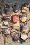Ledernes handgemachtes der Tasche stockfotografie