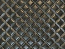 Ledernes Quadrat n?hte schwarze Beschaffenheit oder Hintergrund stock abbildung