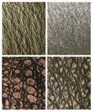 Ledernes Reptilmuster in den natürlichen Farben Lizenzfreie Stockfotografie