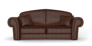Ledernes Sofa Stockfoto