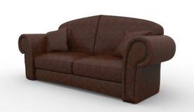 Ledernes Sofa Stockbild