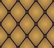Lederpolsterungsmöbel Geometrische Verzierung auf einem alten Papier Muster, Naht Stockbilder